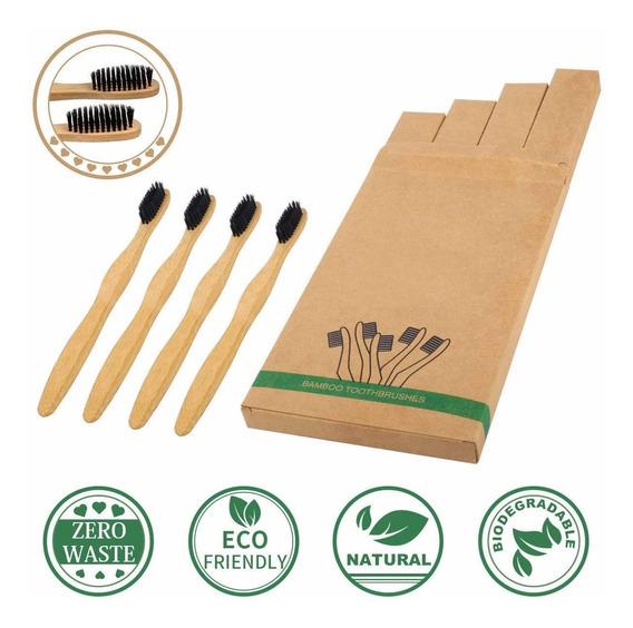 Cepillo De Dientes De Bambu Natural Para Niño