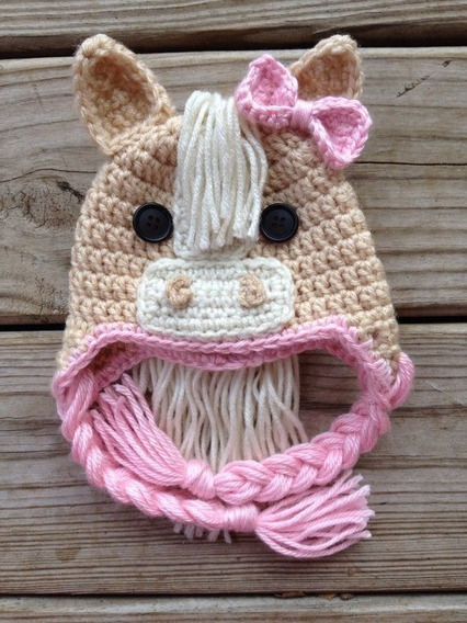 Gorro Caballo Tejido Crochet