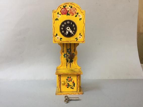 Antiguo Reloj De Pendulo J.hauser Germany Casa De Muñeca .