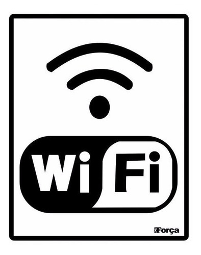 Placa Internet Wireless Rede Sem Fio Wifi Wi-fi 15x20cm