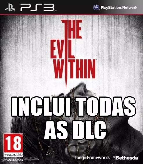 The Evil Within + Todas As Dlc Ps3 Original Envio Agora!