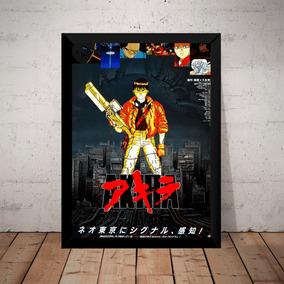 Quadro Decoração Filme Akira Anime Manga Poster Moldurado