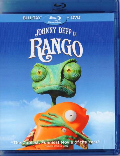 Imagen 1 de 3 de Rango Jonny Deep Pelicula Blu-ray + Dvd