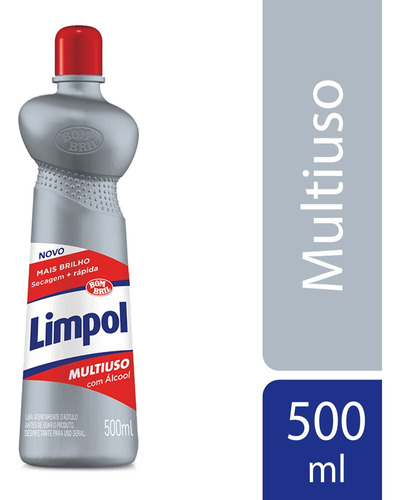 Limpador Multiuso Limpol Com Alcool 500ml
