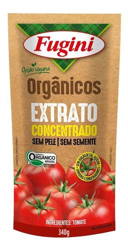 Extrato De Tomate Orgânico Fugini Sache 340 G