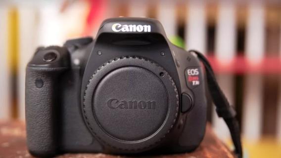 Canon T3i 600d Corpo Com Carregador E Bateria