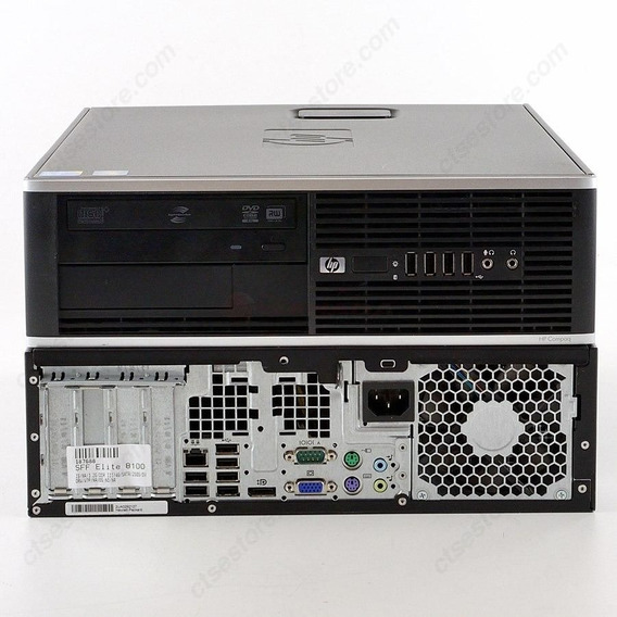 Desktop Hp Compaq 8100 Elite Proc Core I5 Mem 8gb Ssd 120gb
