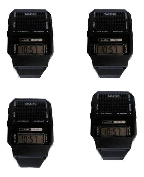 4 Relógios Digital Fala Hora Português Produto Com Qualidade