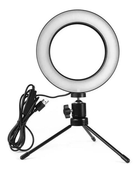 Iluminador De Led Com Tripé Ring Light Usb Make Selfie