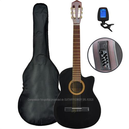 Guitarra Electro Criolla Media Caja Eq Afinador Funda Pua