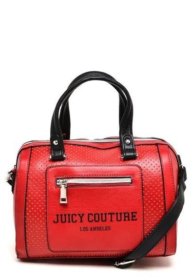 Bolsa Báu Juicy Couture Perfuros Vermelha Peq. Original