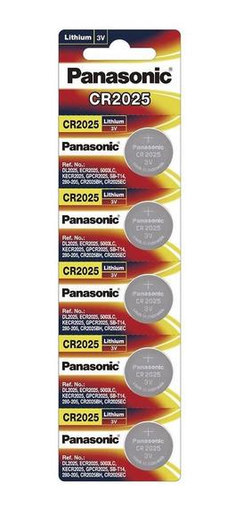 Pila Panasonic Lto Cr2025 3v Cr-2025pa/5b Tira C/5