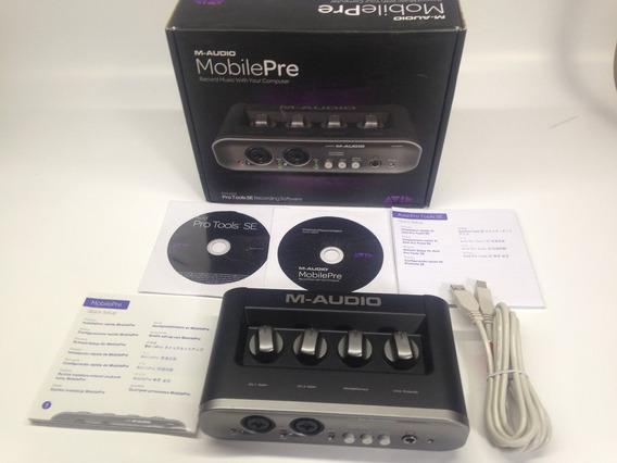 Interface Usb M Audio Mobile Pre Mk2 Protools Novo Na Caixa