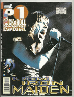 Revista Popular 1 Rock & Roll Especial Iron Maiden, Poster