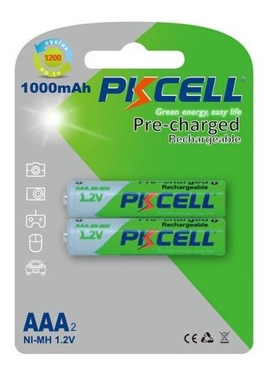 Pila Recargable Pre-cargada Aaax2 1000 Mah Pkcell