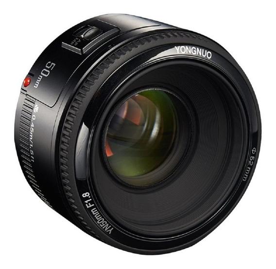 Lente Automática Yongnuo Câmera Canon F1.8 Auto Profundidade