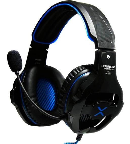Combo (headset Gamer Fone C/led Hf-g650+adaptador Y P2 X P3)