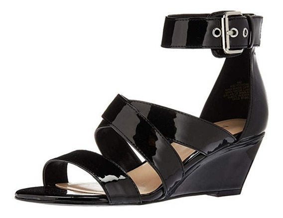 Sandalias Marca Nine West 37 Negras Patentes