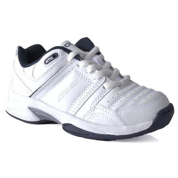 Zapatilla Atomik Footwear - 1986-at-0044-k-blanco Y Azul