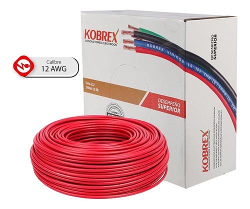 Caja 100 Mts Cable Rojo Cal 12 Awg Kobrex Vinikob 100%cobre