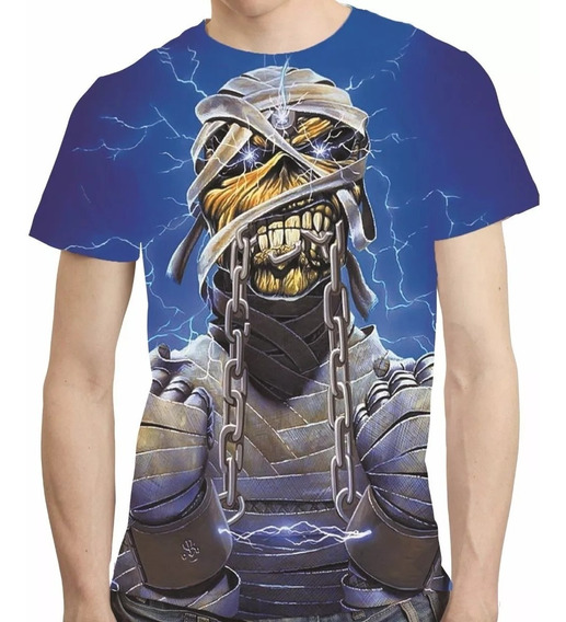 Camisa Bandas De Rock Camiseta Iron Maiden - Estampa Total