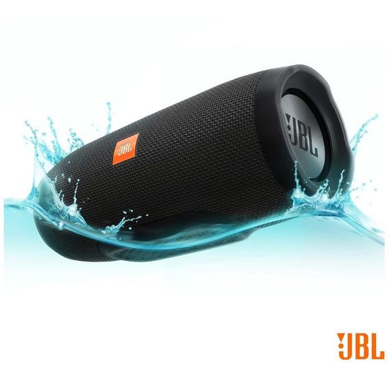Caixa Som Bluetooth Jbl Charge3 Portátil Prova D