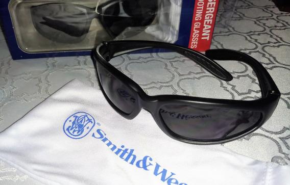 Óculos De Segurança Smith & Wesson Lente Fumaça Filtro Solar