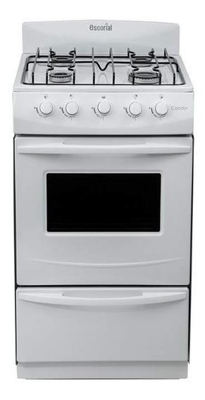 Cocina Escorial Candor S2, Blanca, Gas Natural