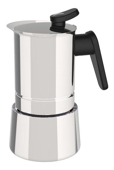 Cafetera Express Pedrini Acero Inox 4 Tazas Inducción