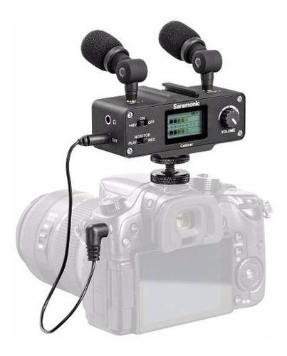 Imagen 1 de 10 de Mixer Mezclador  Estereo + 2 Microfonos Saramonic Camixer