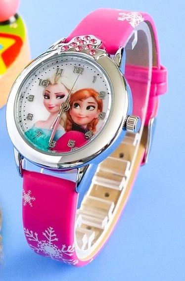Reloj De Pulso Disney Ana Y Elsa Combo + Peine