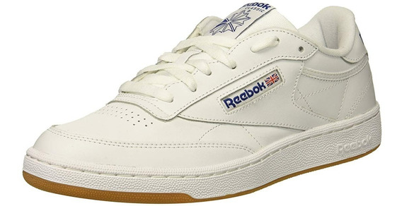 Tenis Reebok Caballero Club C 85 , White/royal-gum, 8.5 M Us