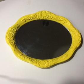 Espelho Bandeja Colonial Amarelo