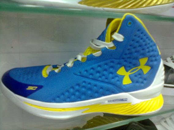 Tenis Ua Stephen Curry Azul E Amarelo Nº40 Original!!!