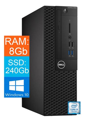 Imagem 1 de 3 de Desktop Dell Core I5 7ºgeração 8gb Ssd 240 Gb Windows 10