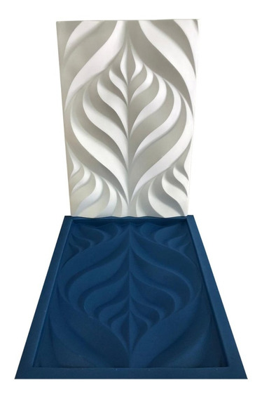 Forma De Gesso 3d Plástico E Borracha Folhas - Lindíssimo