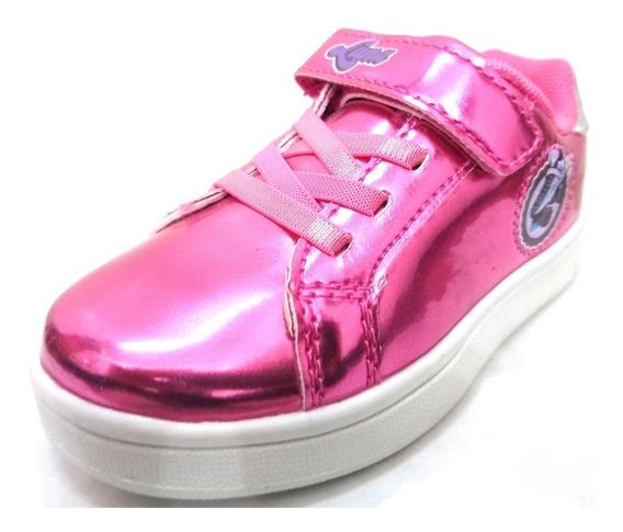 Zapatillas Disney Soy Luna Con Abrojo Y Cordón