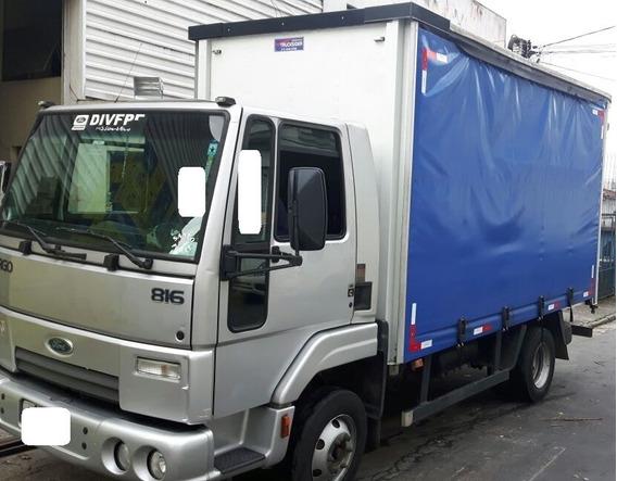 Ford Cargo 816 Vuc Sider 4,2m - Baixo Km - Novo