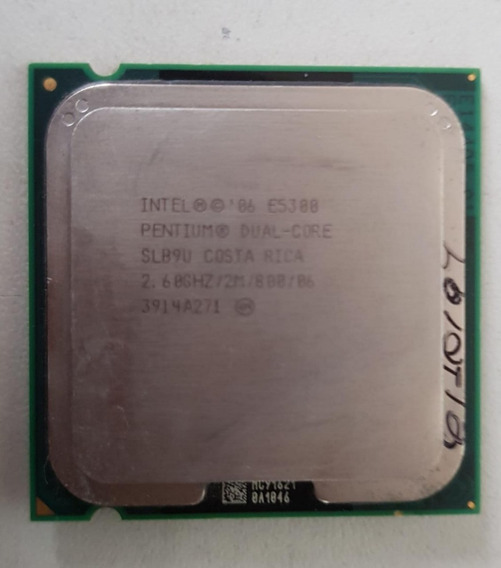Processador Intel Dual Core E5300 2,60ghz Usada Ref: 01546