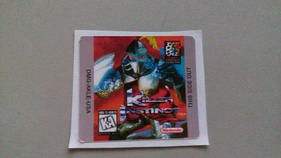 Label Killer Instinct Para Game Boy