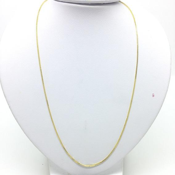 Corrente Masculina 60cm 1mm Veneziana Banhada Ouro 18k