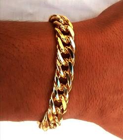 Pulseira Bracelete Banhado Ouro 18k Fecho De Gaveta