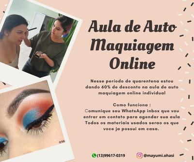 Aula De Auto Maquiagem Online Ou Á Domicilio
