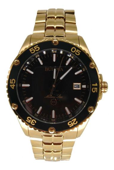 Relógio Bulova Masculino Dourado Calendário