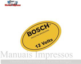 Adesivo Bosch 12v Fusca Antigos 12 Volts Carros Antigos