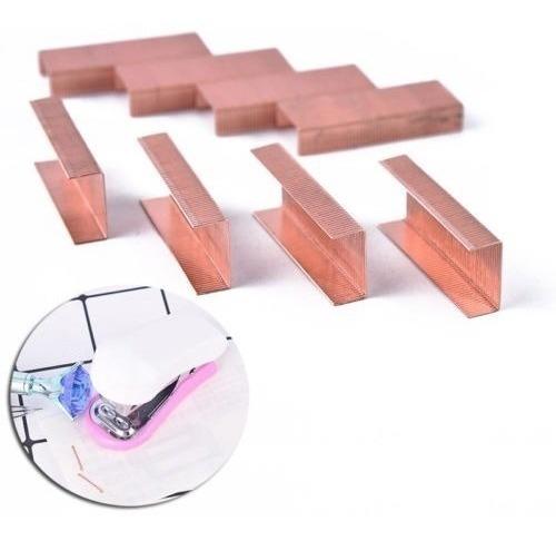 1000pcs Tamaño No12 Caja De Grapas Para Engrapadora Oro Rosa
