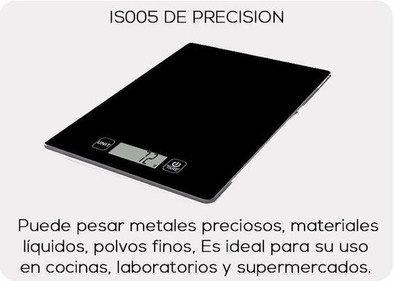 Bascula Digital De Presicion En Vidrio Templado 5kg Envio