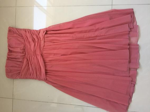 Vestido Strapless De Fiesta Rosa Mab