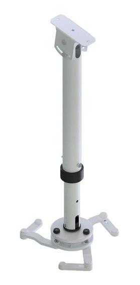 Suporte Para Projetor Fixação Teto Avatron Inclinado Branco