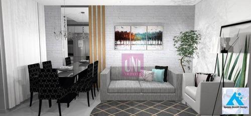 Cobertura Com 2 Dormitórios À Venda, 100 M² Por R$ 435.000 - Vila Bastos - Santo André/sp - Co0718